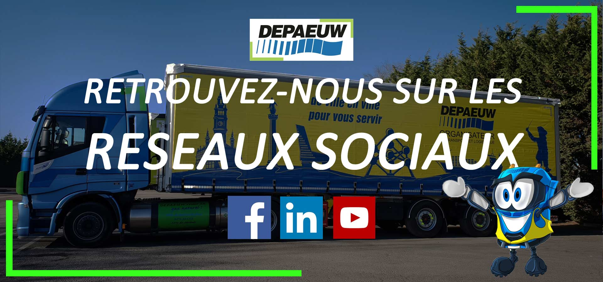 Page officielle DEPAEUW sur réseau social professionnel LinkedIn
