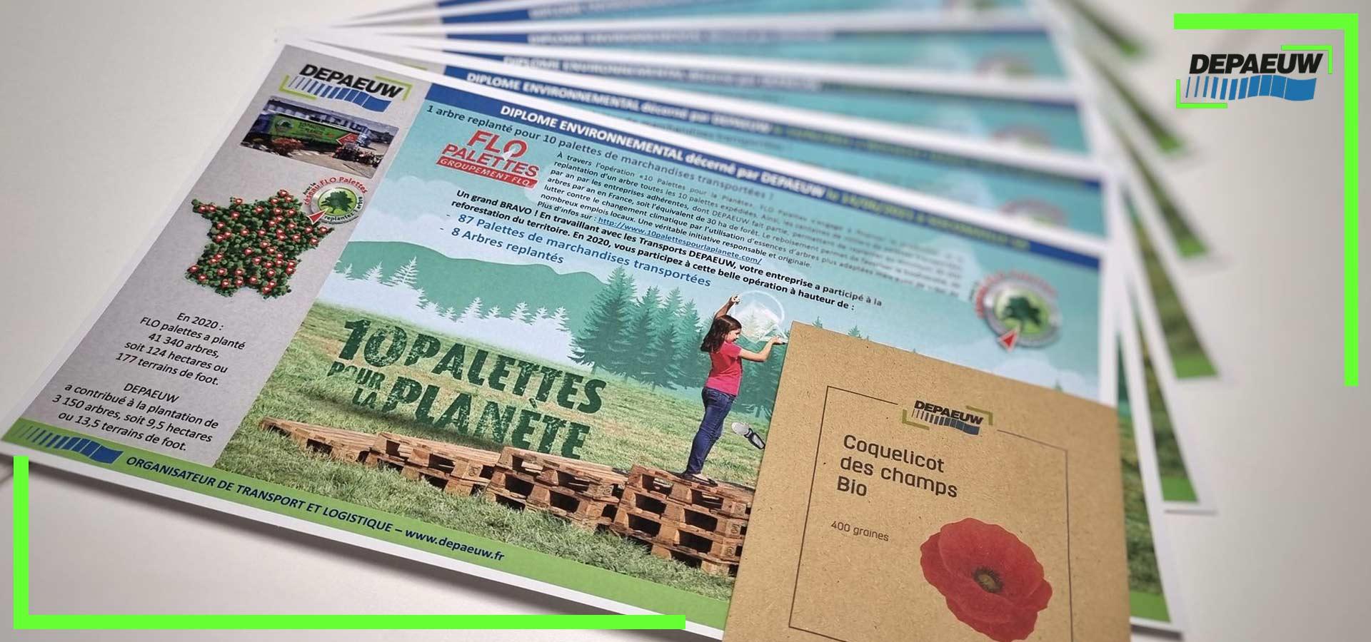 DEPAEUW félicite ses clients engagés dans la reforestation